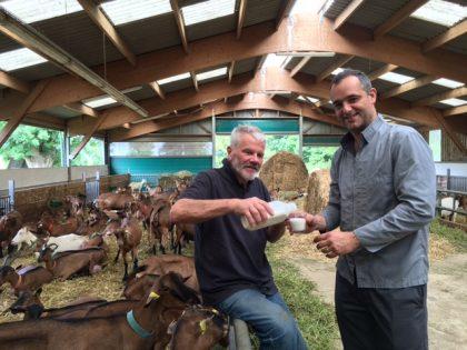 Franck Lesay et Sébastien Delaborde lait de chèvre 2