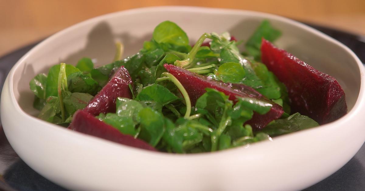 ma recette de salade de betterave cresson laurent mariotte. Black Bedroom Furniture Sets. Home Design Ideas
