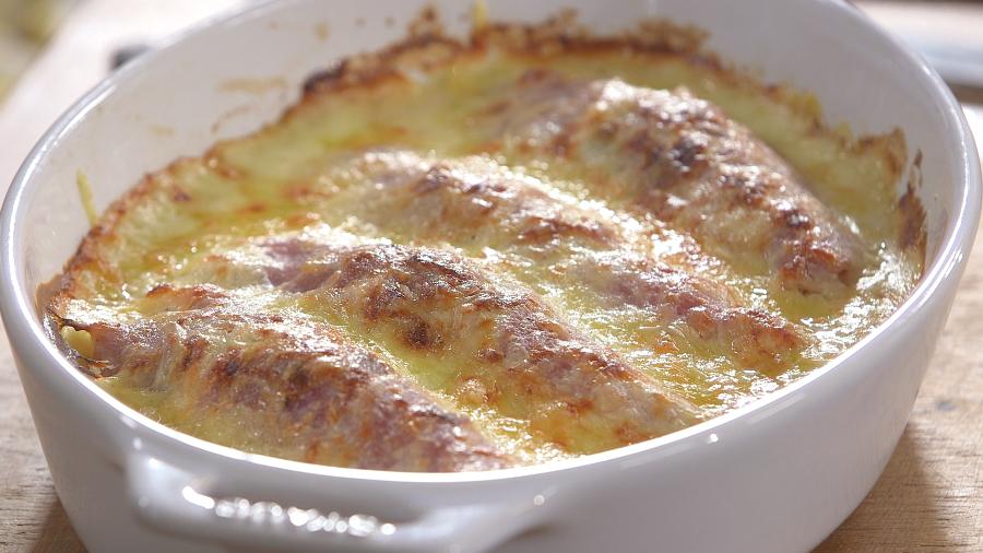 Ma recette d 39 endives au jambon laurent mariotte - Recette endives au jambon ...