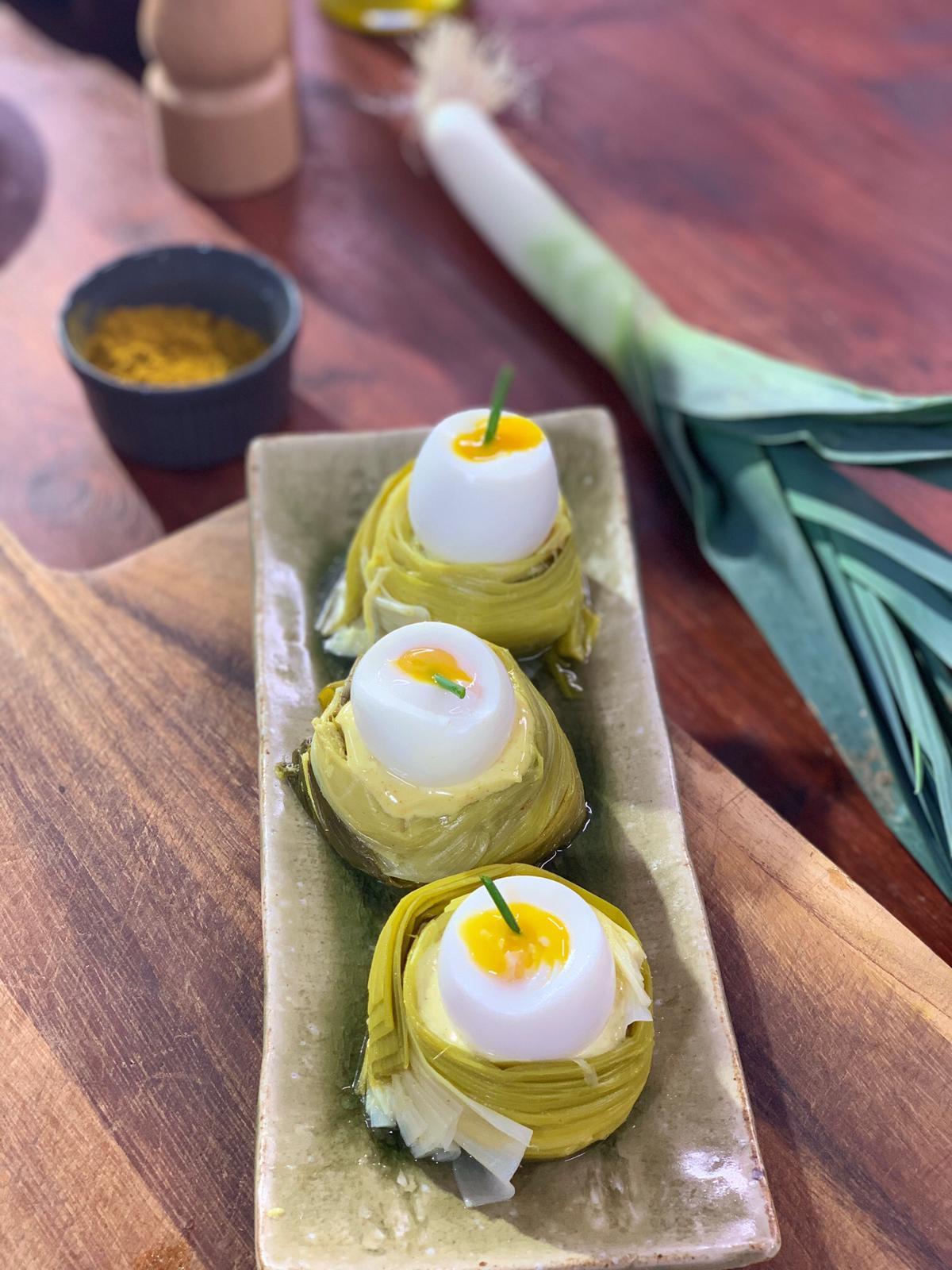 Ma recette de poireaux,œuf mollet , Laurent Mariotte
