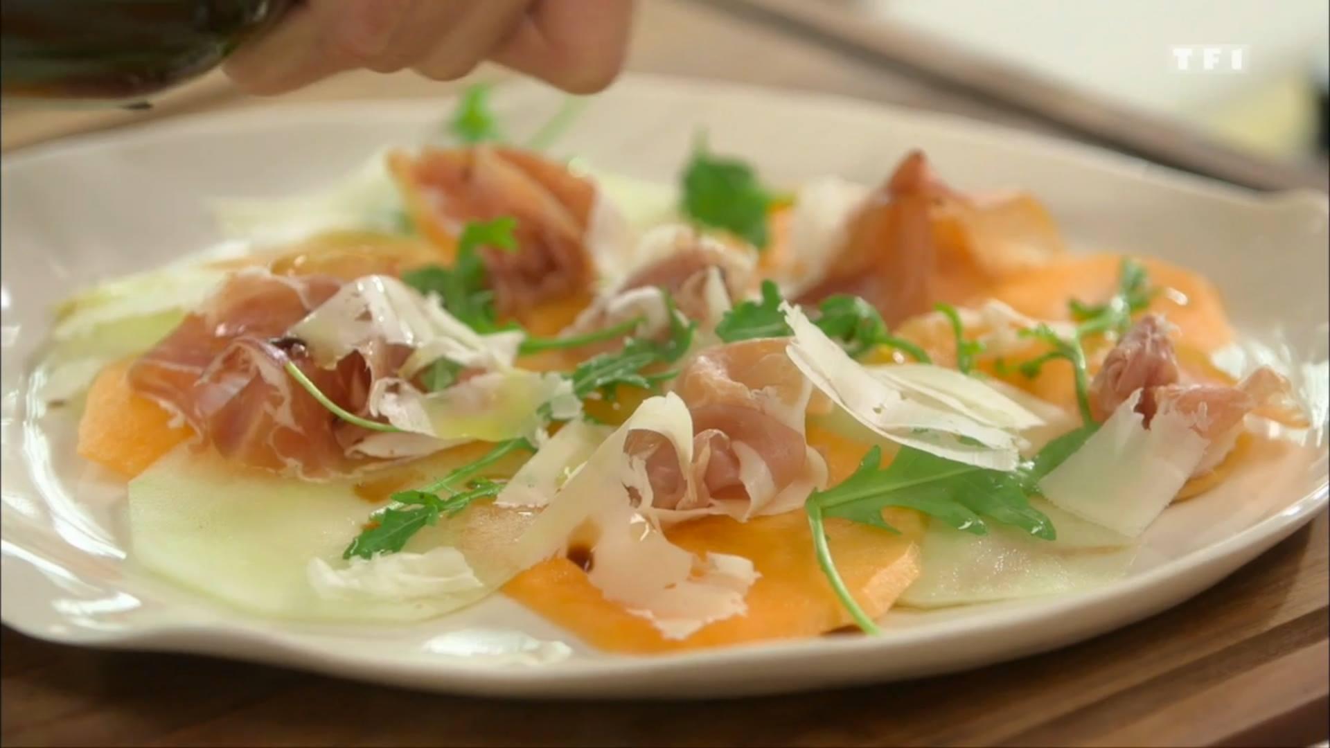 Ma recette du carpaccio de melon laurent mariotte - Toutes les recettes de petit plat en equilibre ...