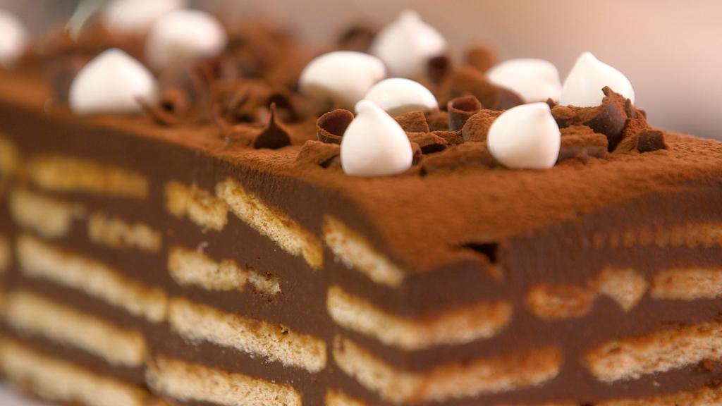 Buche au chocolat sans cuisson tupperware